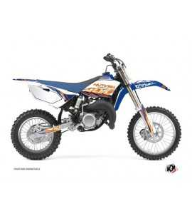Kit Déco Moto Cross Eraser Yamaha 85 YZ Bleu - Orange