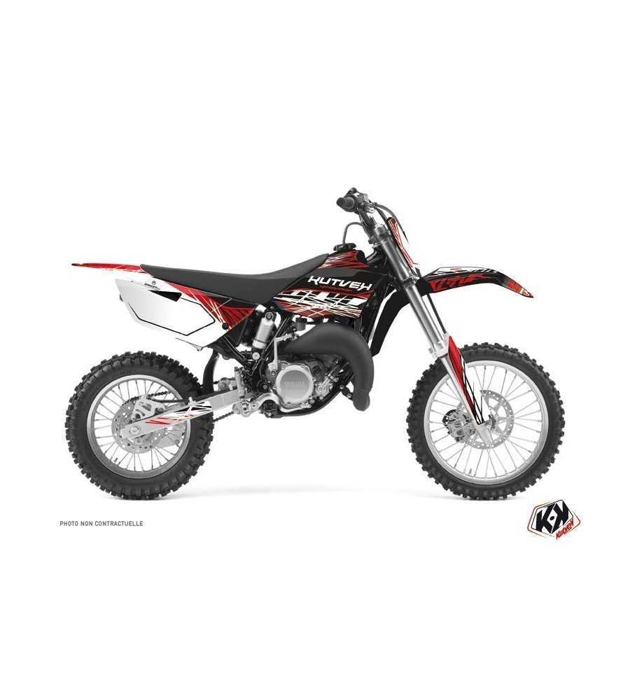 Kit Déco Moto Cross Eraser Yamaha 85 YZ Rouge - Blanc