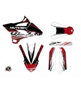 Kit Déco Moto Cross Eraser Yamaha 85 YZ Rouge - Blanc LIGHT