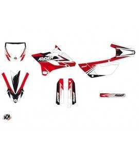 Kit Déco Moto Cross Stage Yamaha 85 YZ Noir - Rouge
