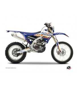 Kit Déco Moto Cross Eraser Yamaha 250 WRF Bleu - Orange