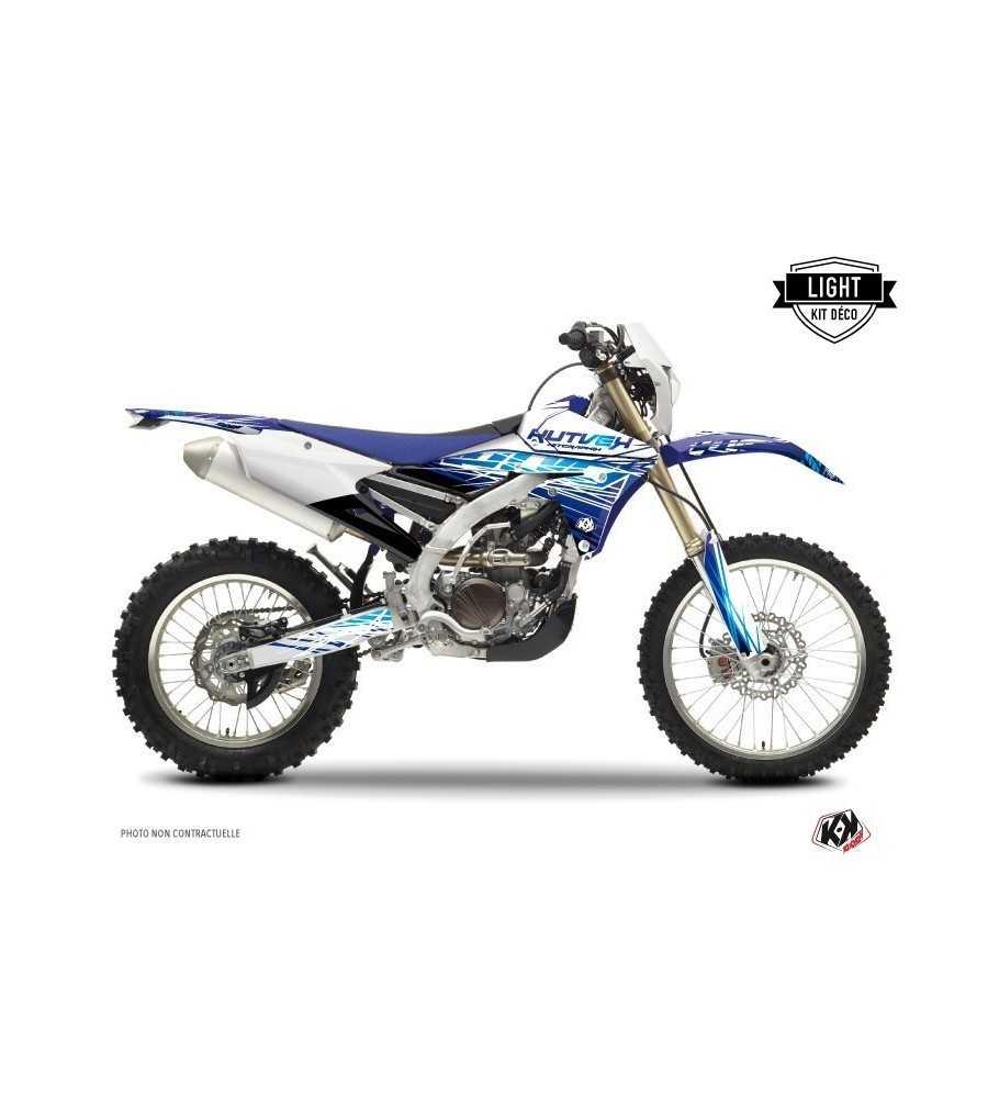 Kit Déco Moto Cross Eraser Yamaha 250 WRF 2000-2016 Bleu LIGHT