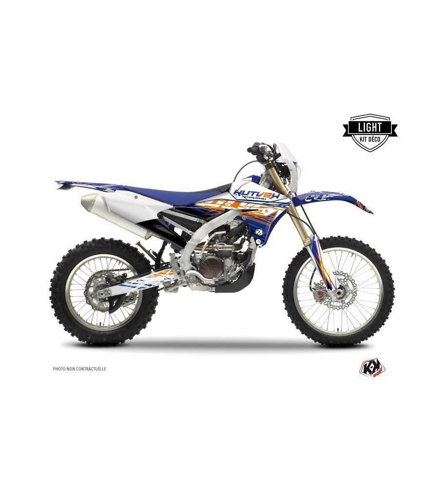 Kit Déco Moto Cross Eraser Yamaha 450 WRF 2000-2016 Bleu - Orange LIGHT