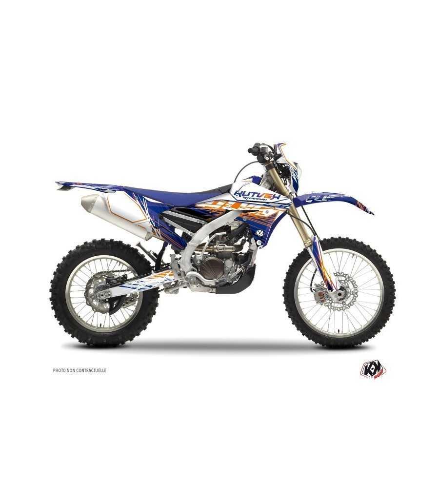 Kit Déco Moto Cross Eraser Yamaha 450 WRF 2000-2016 Bleu - Orange