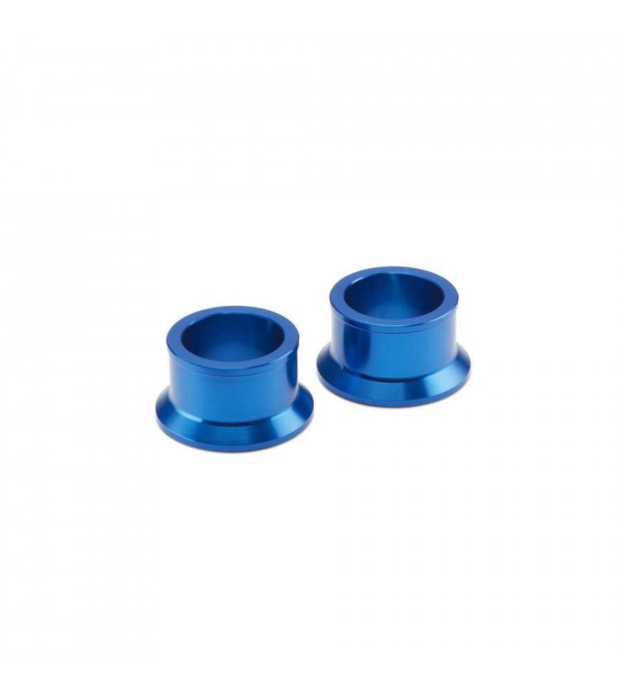 Entretoises bleues roue avant - Axe 22 mm 2502 YZF