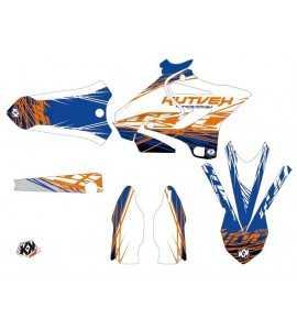 Kit Déco Erazer Yamaha 125-250 YZ Bleu – Orange