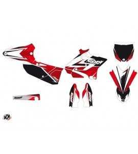 Kit Déco STAGE Yamaha 125 YZ Noir – Rouge