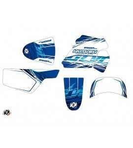 Kit Déco Moto Cross Eraser Yamaha PW 50 Bleu