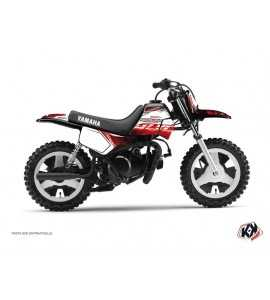 Kit Déco Moto Cross Eraser Yamaha PW 50 Rouge-Blanc