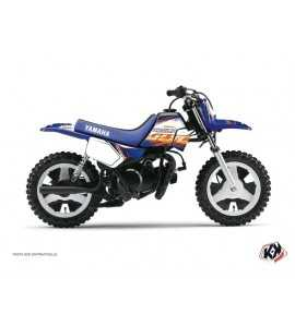 Kit Déco Moto Cross Eraser Yamaha PW 50 Bleu-Orange